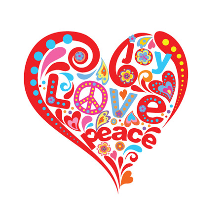 hippie: Hippie heart Illustration