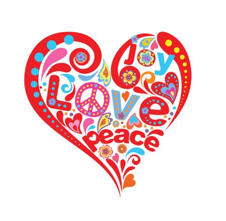 Hippie Herz Standard-Bild - 25781850