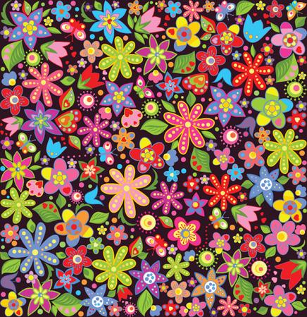 夏の花と明るい壁紙