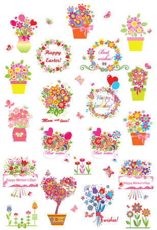 Collection of greetings Stock Illustratie