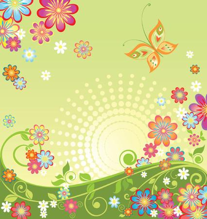 garden party: Spring flowers