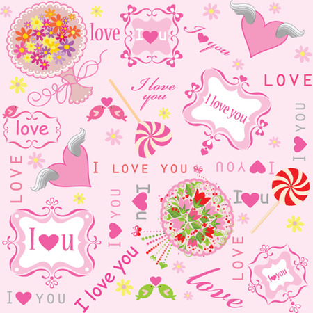 Valentines sweet wallpaper Vector