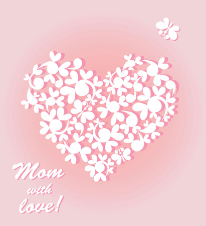 Mom with love Vector