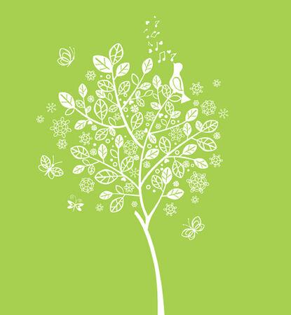 꽃이 만발한: 봄 꽃이 만발한 나무
