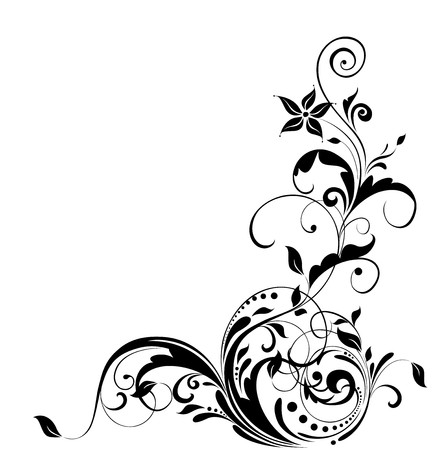 Floral adornment Vector