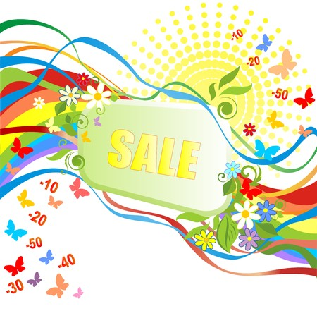 summery: Summery sale Illustration