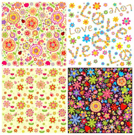 Abstract floral wallpapers 向量圖像