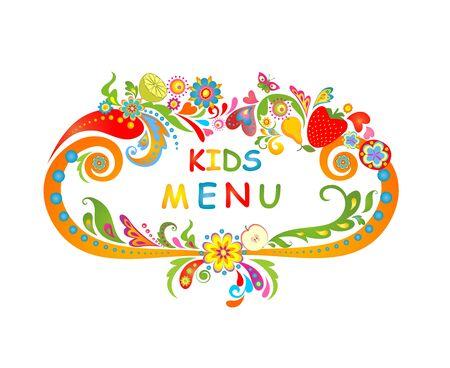 eating lunch: Cardboard for kids menu