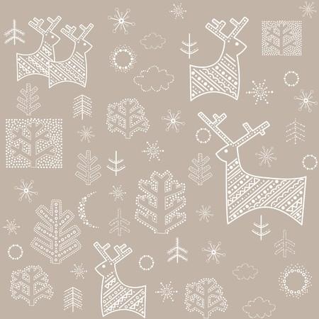 winter wallpaper: Papel pintado en colores pastel de invierno Vectores