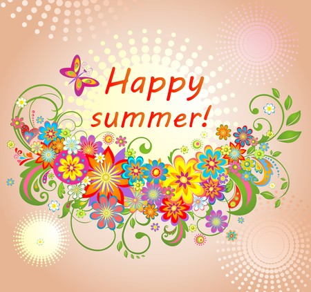 summery: Summery greeting card