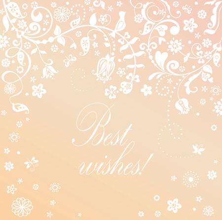 Beautiful card for honeymoon