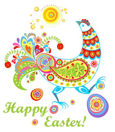 Decorative easter hen Illustration