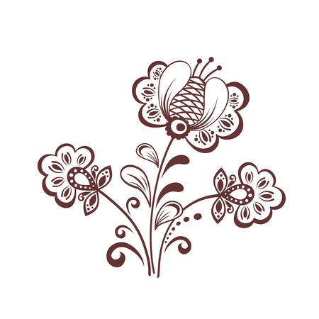 ornamented: Decorative flowers Illustration