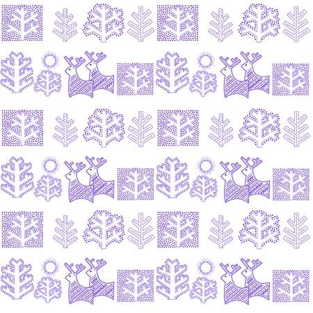 behang blauw: Winter blauw behang