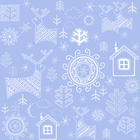 Winter retro print Vector