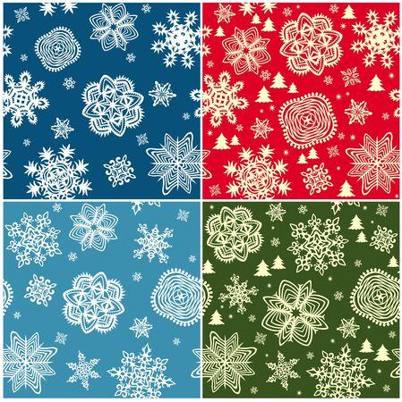 Set of winter wallpapers Vector