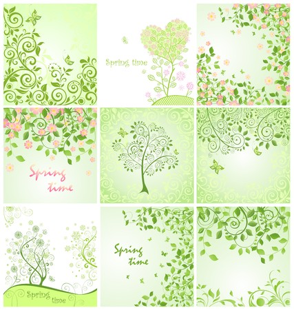 Spring cards Vector