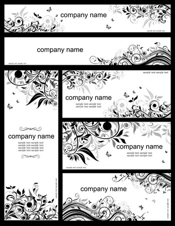 Floral templates (black and whites) Vector