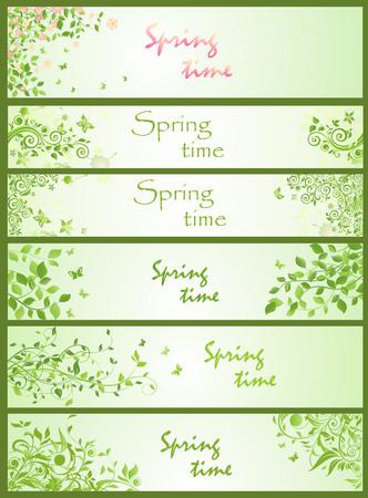 horizontal: Spring horizontal banners