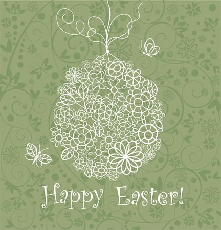 lacy: Beautiful easter card with lacy hanging egg