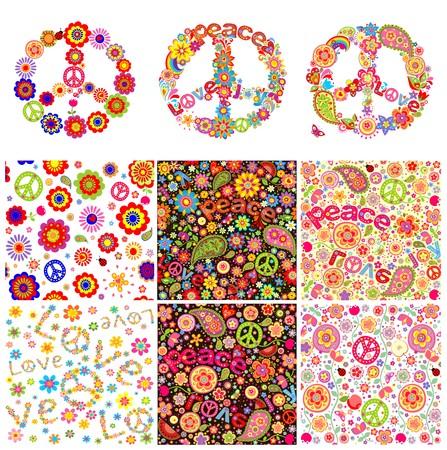 ladybug: Hippie symbolic design