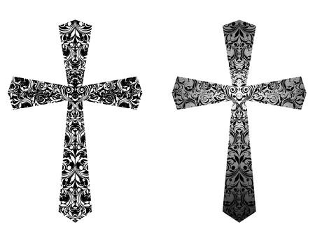 Croci cristiane (bianco e nero) Archivio Fotografico - 37624374