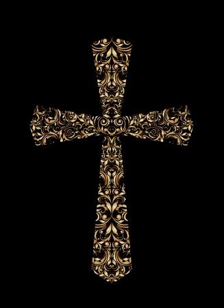christian cross: Vintage Christian Cross Illustration