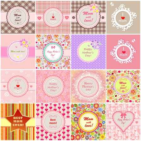 Greeting labels for Mother