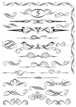 カリグラフィのビンテージ ページ装飾デザイン  イラスト・ベクター素材