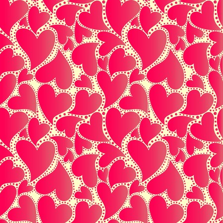 wrapper: Abstract wrapper with red hearts
