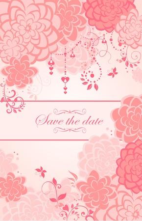 animal print: Bandera de felicitación hermosa rosa floral verticales
