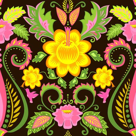 animal print: Papel pintado adornado con motivos florales Vectores