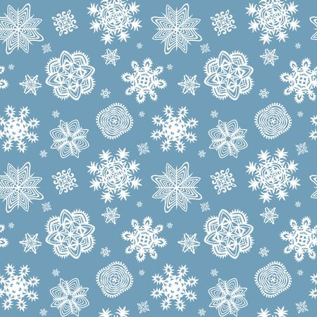 beautyful: Winter blue wrapper with beautyful paper snowflakes
