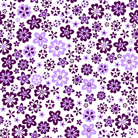 violet flowers: Beautiful wallpaper with abstract violet flowers Illustration