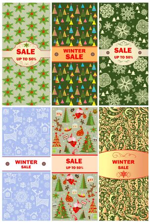 winterberry: Labels for christmas sale Illustration