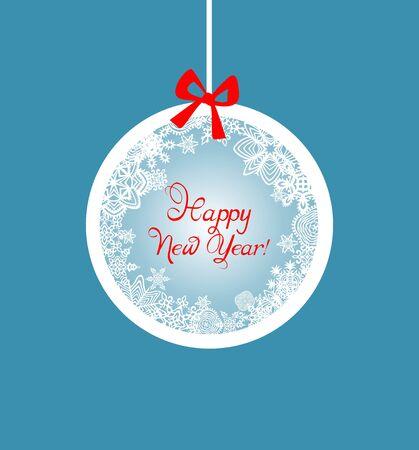 seasonal greeting: Seasonal greeting with hanging ball