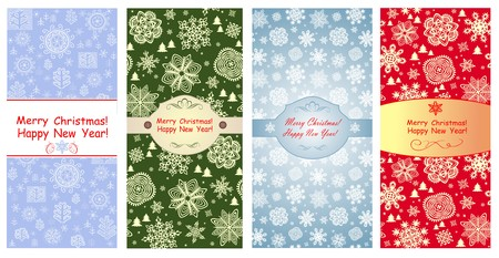 winter holidays: Vertical greetings for winter holidays