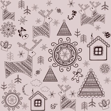 moon angels: Winter sweet wallpaper Illustration