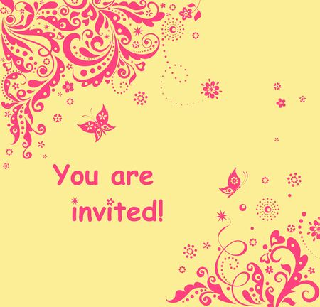 childish: Invitation for childish party Illustration