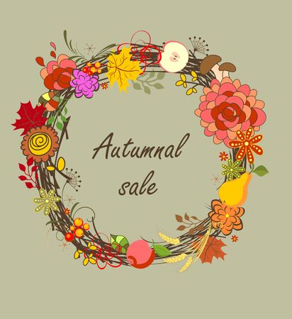 yellow vector: Autumnal sale