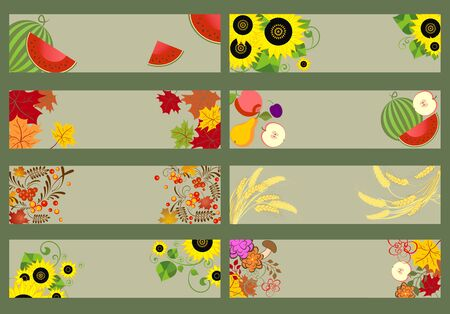 autumnal: Collection of autumnal horizontal banners