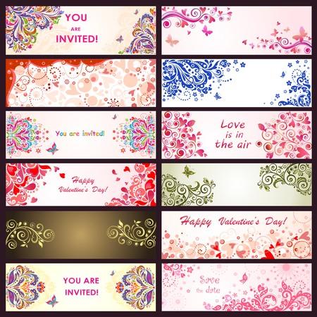 fond de texte: Voeux horizontale bannières décoratives