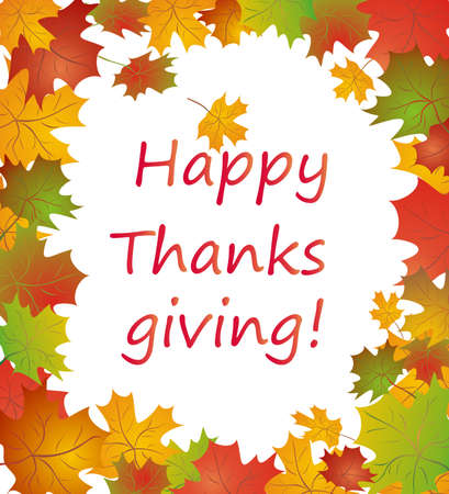 thanks giving: Seasonal autumnal greeting Illustration