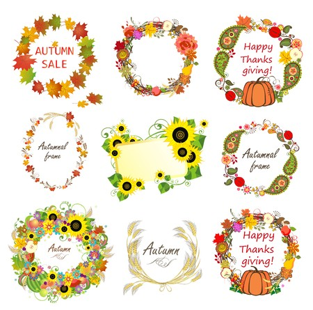 thanks giving: Collection of autumn frames