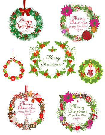 winterberry: Collection of xmas wreath