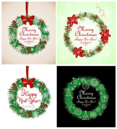 Season greetings stock photos royalty free season greetings images season greetings with xmas wreath m4hsunfo