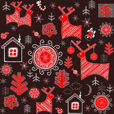 wrapper: Winter retro wrapper with abstract pattern