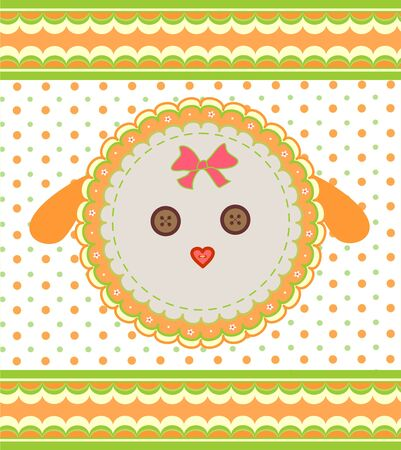 Label with dolly sheep