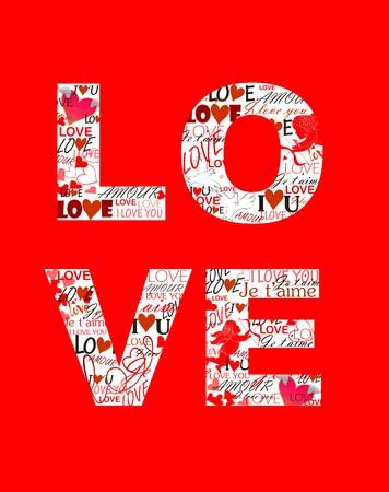 valentines day: Print for Valentines day Illustration