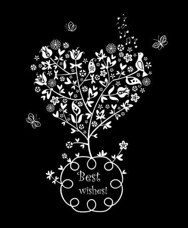 flowered: Beautiful greeting card